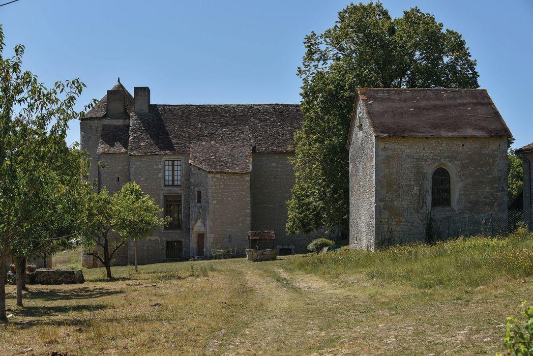 Château de Bourgon: Ensemble est, vue générale
