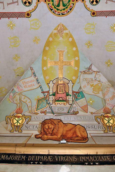 Chapelle Notre-Dame: Peintures monumentales, vue partielle