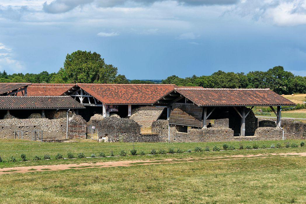 Vestiges de la villa gallo-romaine de Cassinomagus: Vue partielle