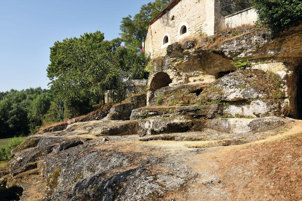 Eglise souterraine monolithe dite chapelle Saint-Georges: Vue partielle