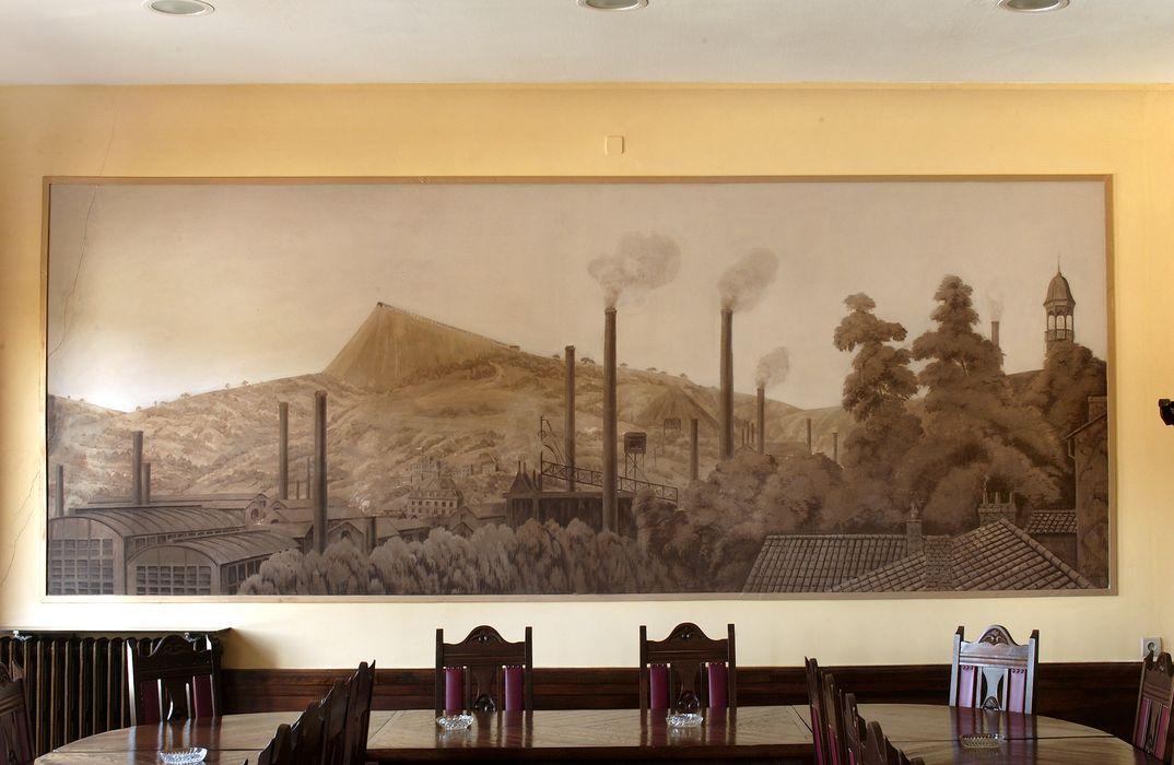 Société de secours minière de Decazeville, actuellement centre de santé FILIERIS: Peinture monumentale
