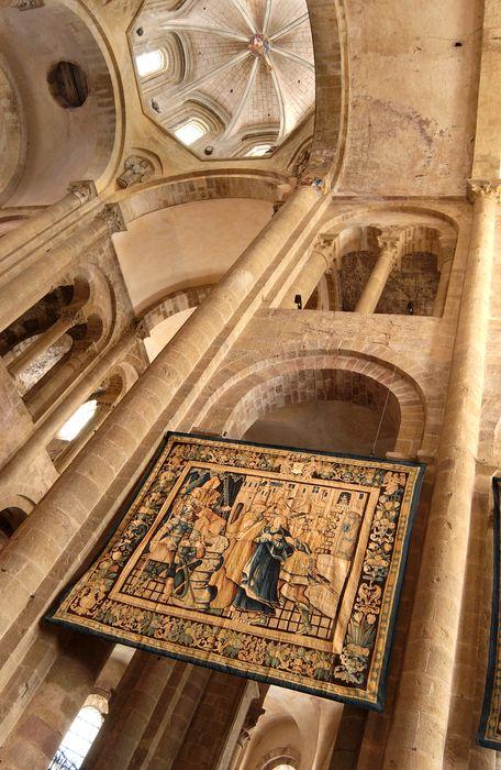 pièces murales : sainte Foy devant Dacien, sainte Foy sur le gri