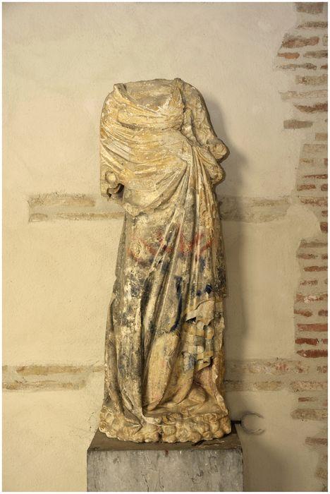 Statue : Vierge à l'Enfant et dais