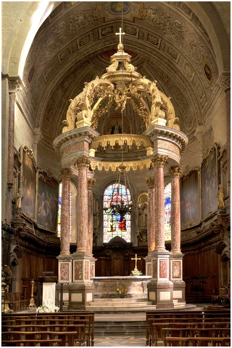 Dais d'autel (baldaquin) du maître-autel