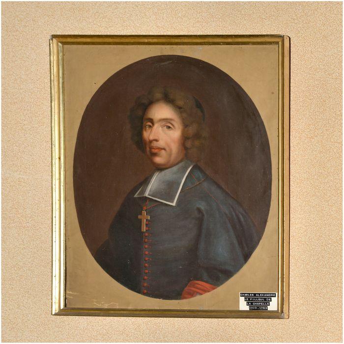 tableau, cadre : portrait de Charles-Alexandre le filleul de la chapelle