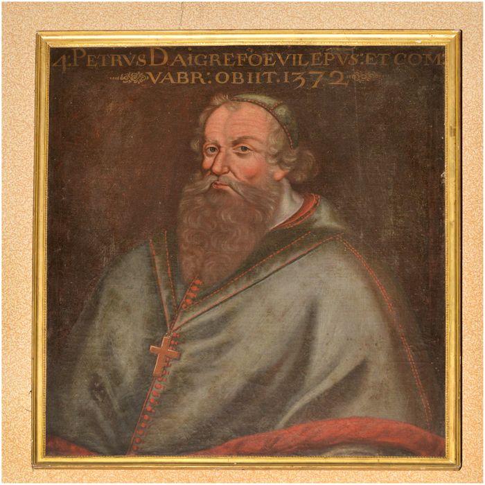tableau, cadre : portrait de Pierre d'Aigrefeuille