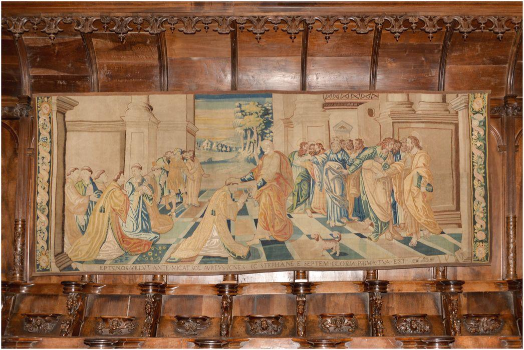 pièce murale : l'ordination de saint Etienne, vue générale