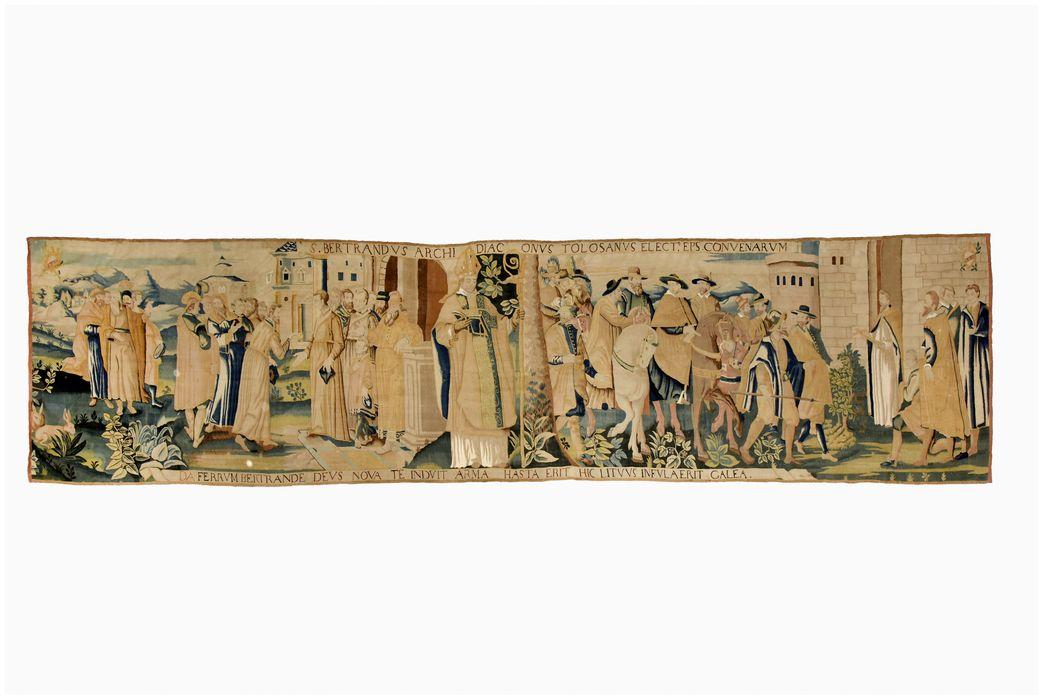 pièce murale : saint Bertrand, vue générale