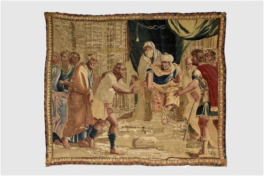 pièce murale : Joseph et Benjamin, vue générale