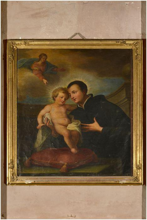 Tableau : Saint Antoine de Padoue recevant l'Enfant Jésus des mains de la Vierge