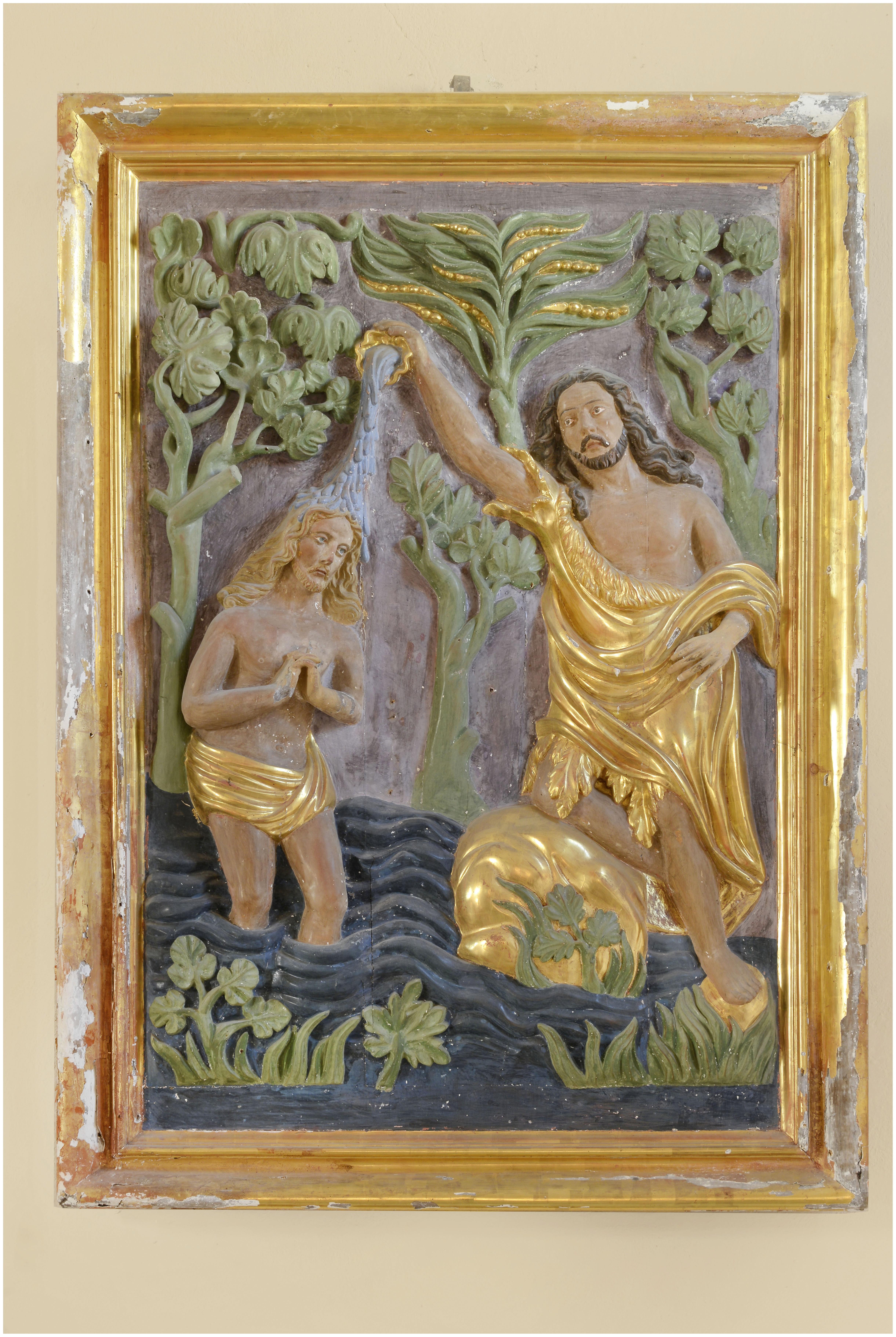 Bas-relief : Baptême du Christ
