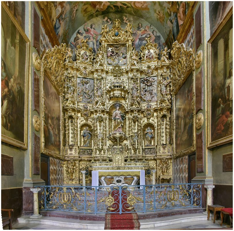 Retable de la chapelle de l'Immaculée Conception