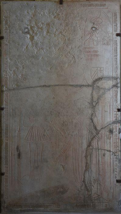 dalle funéraire de Ptolémée Coron et de sa femme, vue générale