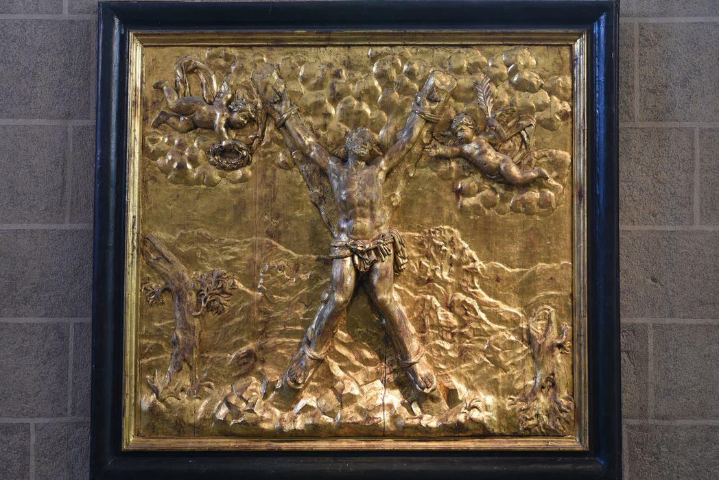 bas-relief : le Martyre de saint André, vue générale