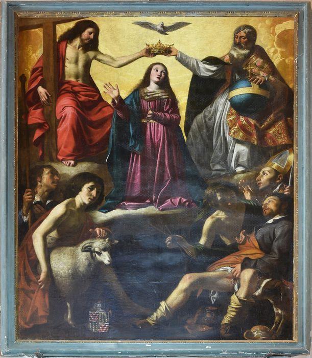 tableau votif : le Couronnement de la Vierge, vue générale