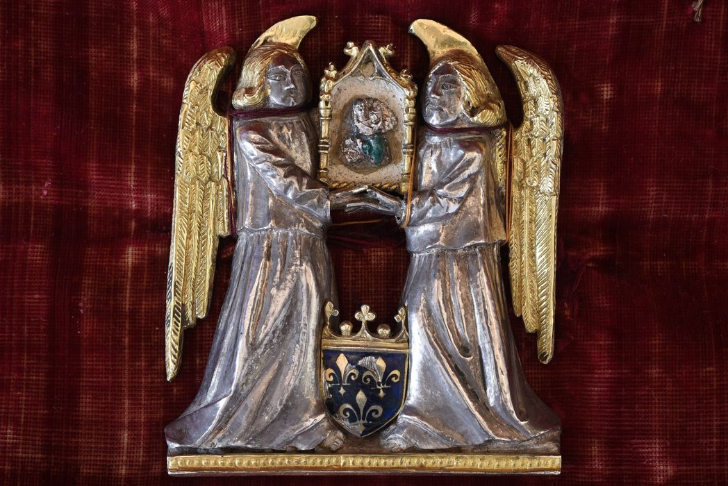 statue-reliquaire : Vierge à l'Enfant dite Notre-Dame trouvée, vue générale