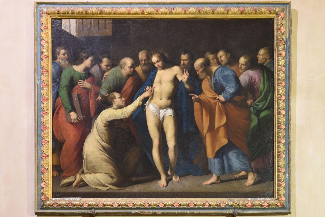 Tableau : Incrédulité de saint Thomas (l'), vue générale