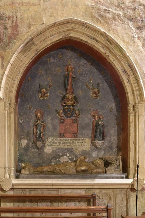 enfeu (gisant), dit tombeau des entrailles de Bertrand du Guesclin, vue générale
