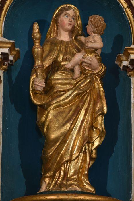 Statue : Vierge à l'Enfant dite Notre-Dame de Bon Secours ou Notre-Dame de Clavas