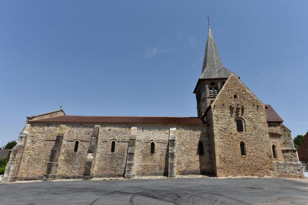 Eglise Saint-Patrocle: façade sud, vue générale