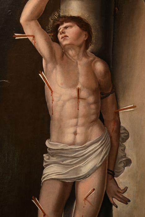 tableau : Martyre de saint Sébastien, vue partielle