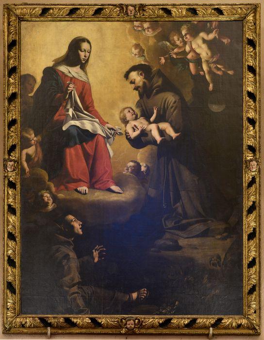 Tableau : Apparition de la Vierge à saint François d'Assise, vue générale