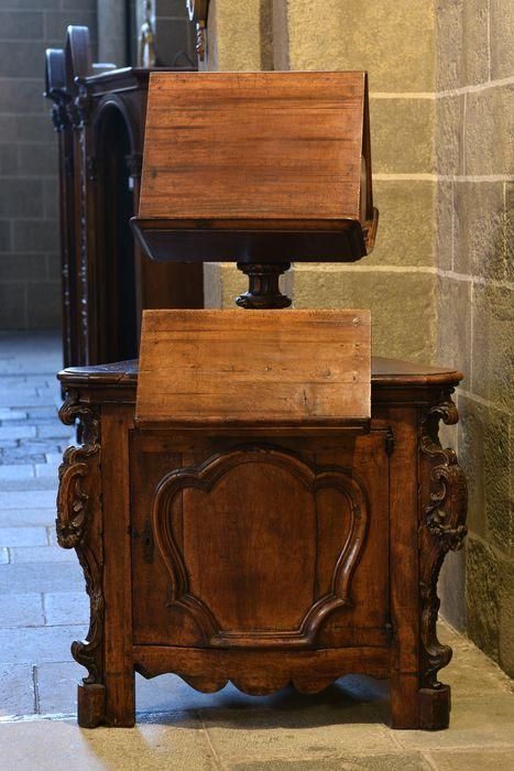 Lutrin à armoire, style Régence, vue générale