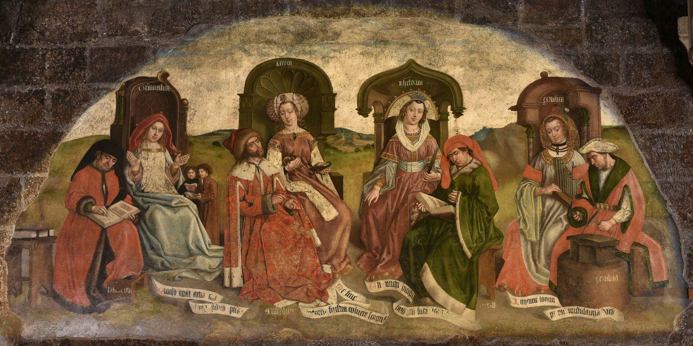 Décor peint de la chapelle des reliques : arts libéraux (les), vue générale
