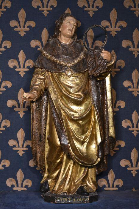 Statue : Saint Louis tenant la couronne
