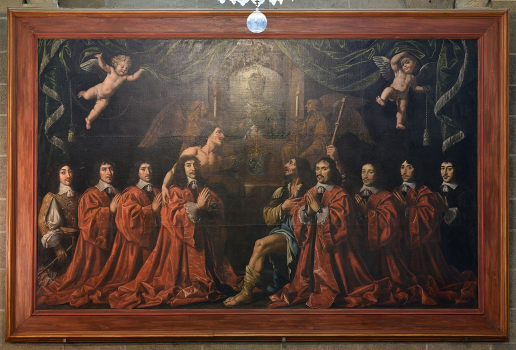 Tableau votif : consuls du Puy présentés à la Vierge noire par saint Sébastien et saint Jacques (les), vue générale