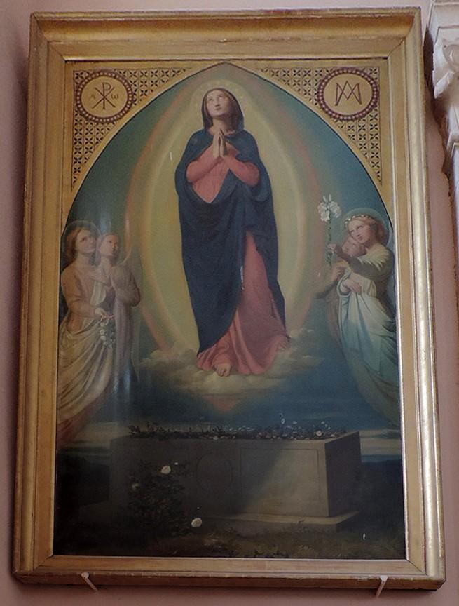 tableau et son cadre : Assomption de la Vierge