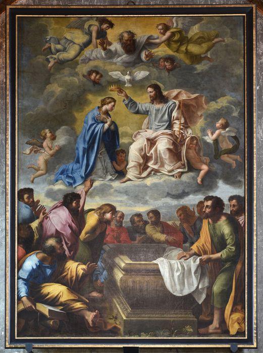 Tableau : Vierge sortie du tombeau et couronnée par le Christ (la)