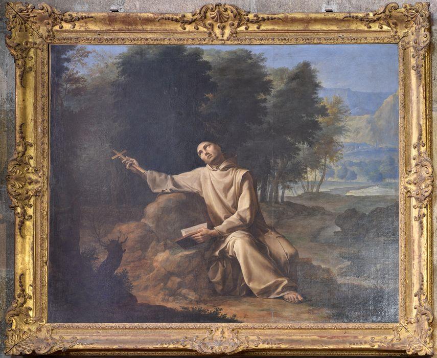 2 tableaux : saint Jean-Baptiste au bord du Jourdain, saint Bruno dans le désert