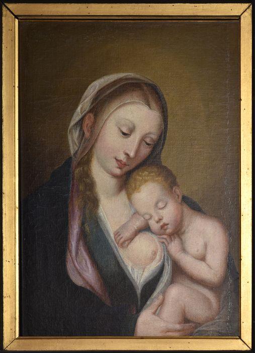Tableau : Vierge et l'Enfant dormant sur son épaule (la), vue générale