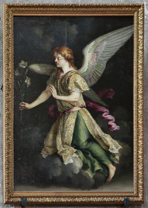 2 tableaux et leurs cadres : ange et vierge de l'Annonciation