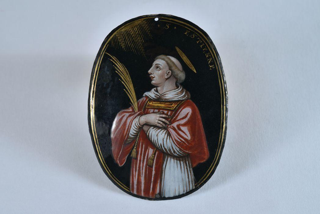 Tableau : saint Etienne, saint Jérôme