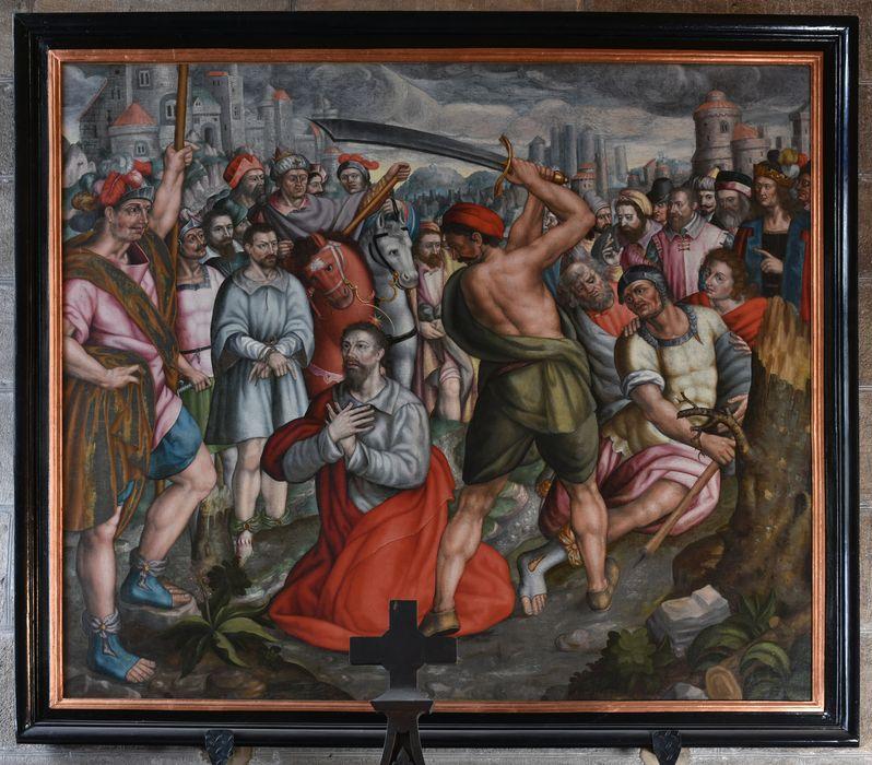 Tableau : Décollation d'un martyr