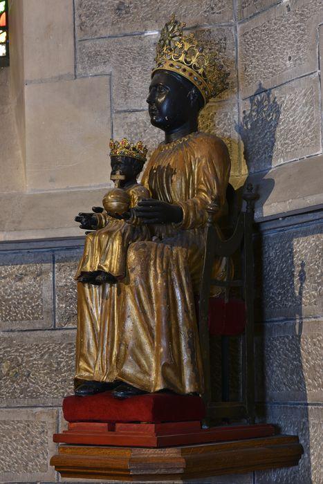 Statue, fauteuil : Vierge à l'enfant (la), vue générale