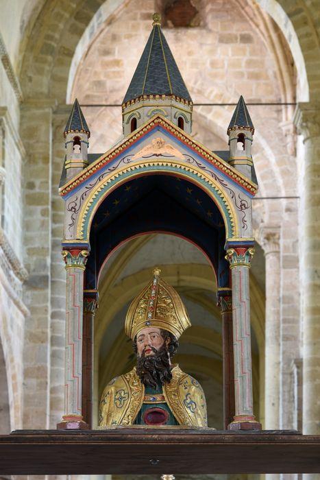 Buste-reliquaire et son palanquin de procession : Saint Menou
