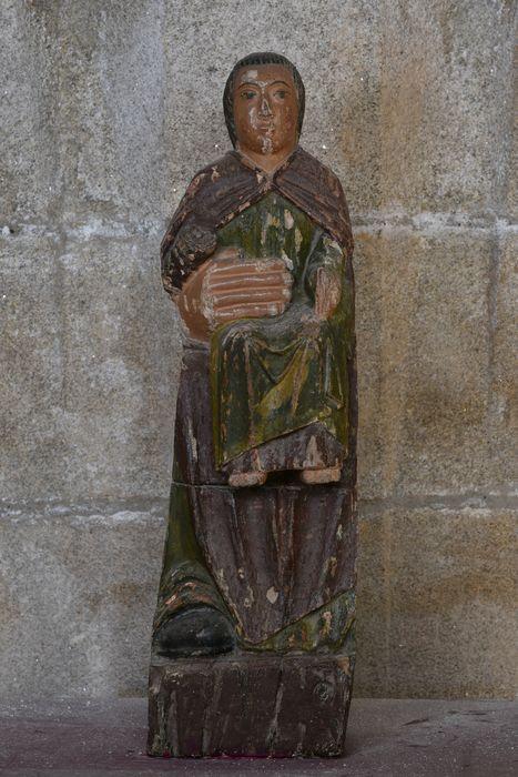 Groupe sculpté : Vierge en majesté, vue générale