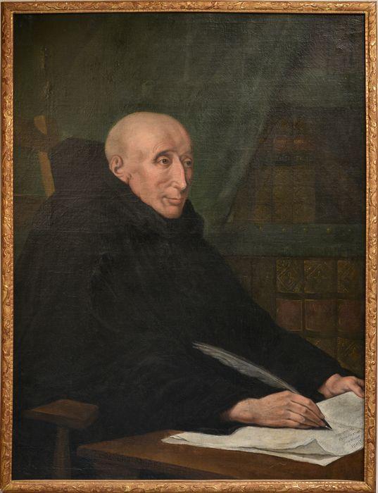Tableau et son cadre : Portrait de Dom Robert Morel