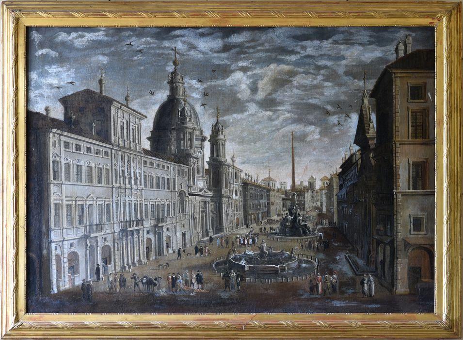 Tableau et son cadre : Rome, la place Navone