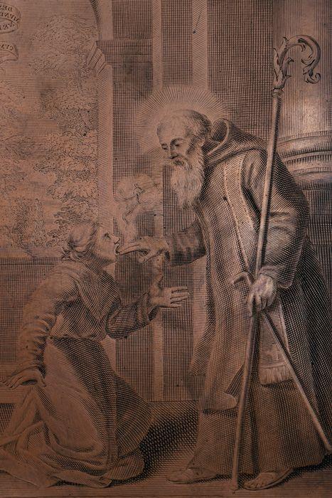 Matrice d'estampe : Saint Patrocle chassant le démon d'une possédée