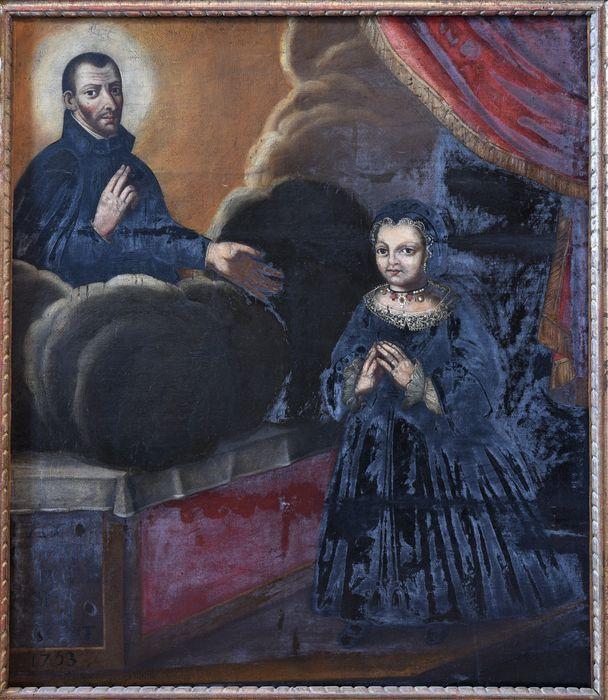 Tableau votif : petite fille devant saint François Régis, vue générale