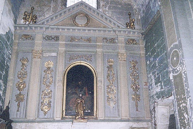 Autel secondaire de saint Marc, retable et lambris