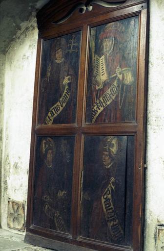 4 tableaux (panneaux peints) : Les Quatre docteurs de l'Eglise latine