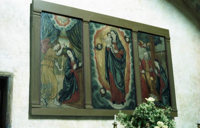 Antependium : L'Annonciation, L'Immaculée Conception, La Nativité