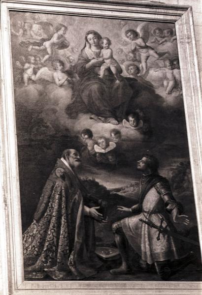 tableau : Saint Fulcran et saint Genès aux pieds de la Vierge