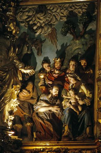 retable du maître-autel : triomphe de la Vierge