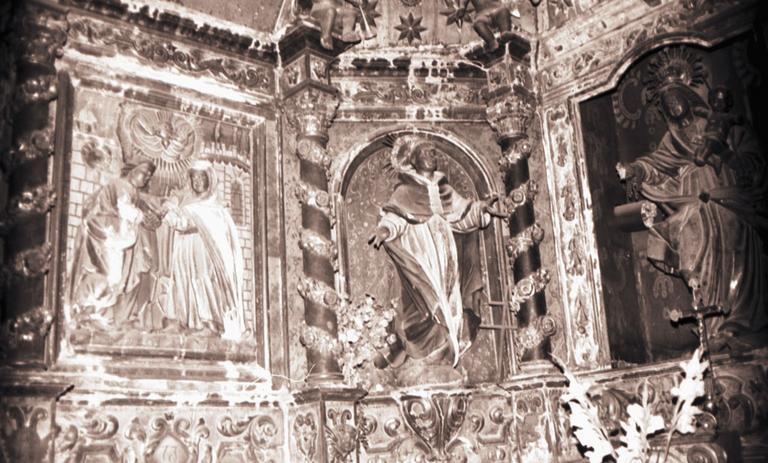 lambris de revêtement de la chapelle de Notre-Dame-du-Rosaire